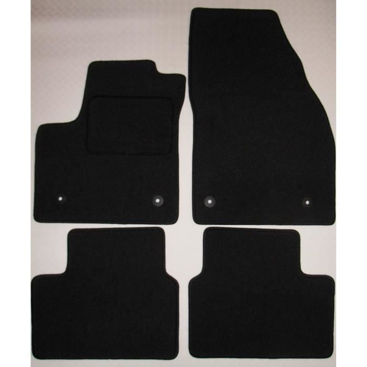 noir Tapis de sol en Caoutchouc Opel Meriva A 2003-2010 4 unités