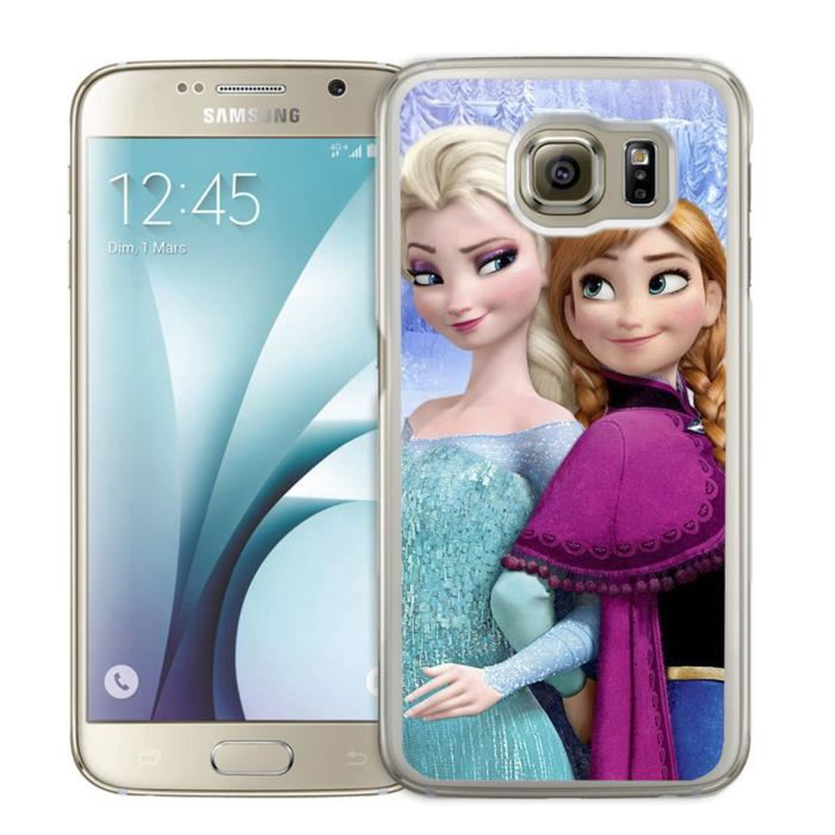 coque samsung galaxy s7 edge la reine des neiges achat. Black Bedroom Furniture Sets. Home Design Ideas
