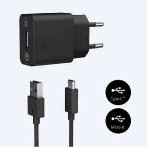 SONY Chargeur Mobile Rapide Avec 2 Cables Type B et Type C