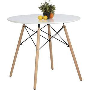 TABLE À MANGER SEULE  Aingoo Table à manger ronde 2 à 4 personnes - Sca