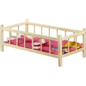 MAISON POUPÉE Lit à barreau en bois pour poupée jouet enfant