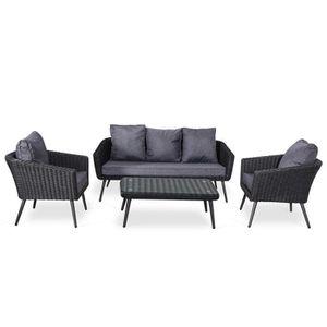 Ensemble table et chaise de jardin Ensemble salon de jardin scandinave Aluminium 5 pl