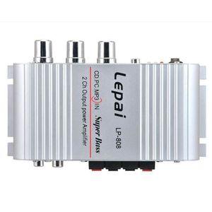 AMPLIFICATEUR AUTO Mini ampli stéréo audio stéréo de 12V 20W X2 RMS p