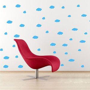 FOND DE STUDIO 12 Nuages Autocollant Mural en PVC Amovible Bébé E