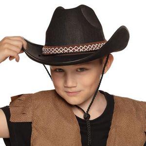 CHAPEAU - PERRUQUE Chapeau Cowboy Noir - Enfant Multicolor