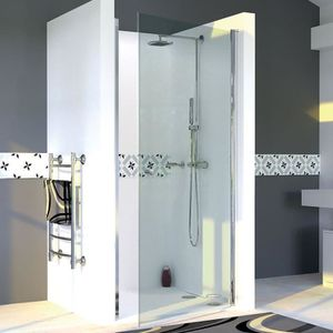 AICA cabine de douche 100x100cm porte coulissante plus une paroi lat/érale hauteur 190cm