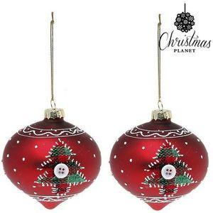 Noël Verre Babiole avec boîte-cadeau peinte à la main 3 Rois Design 7 cm large