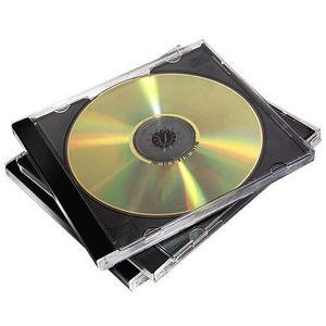 RANGEMENT CD-DVD Fellowes 98310, Boîtier double, 2 disques, Noir, T