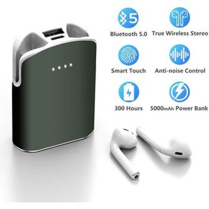 CASQUE - ÉCOUTEURS LAMZIEN Écouteur Bluetooth Oreillette sans Fil Cha