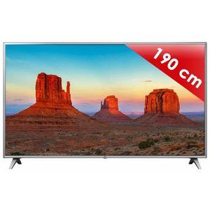Téléviseur LED TV LED plus de 52 pouces LG - 75 UK 6500 • Télévis
