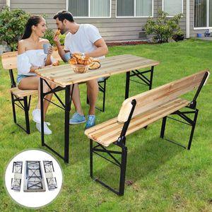 BANC D'EXTÉRIEUR Table et Bancs de Jardin Pliants | Table 118 / 45