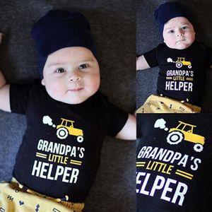 Ensemble de vêtements Lettre du nouveau-né Enfants Bébés garçons Print R