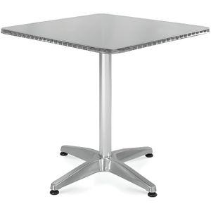 TABLE DE JARDIN  Table de jardin carrée en aluminium 70x70cm Gris