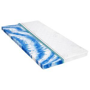 MATELAS Sur-matelas 160 x 200 cm Mousse de gel 7 cm
