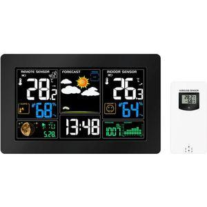STATION MÉTÉO Station météo LCD réveil Intérieur/Extérieur Horlo