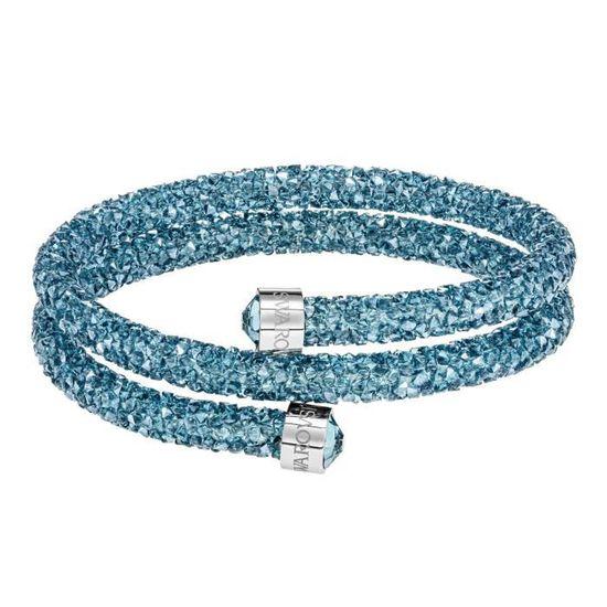 Bracelet Jonc Swarovski Crystaldust Violet M Bijoux Femme
