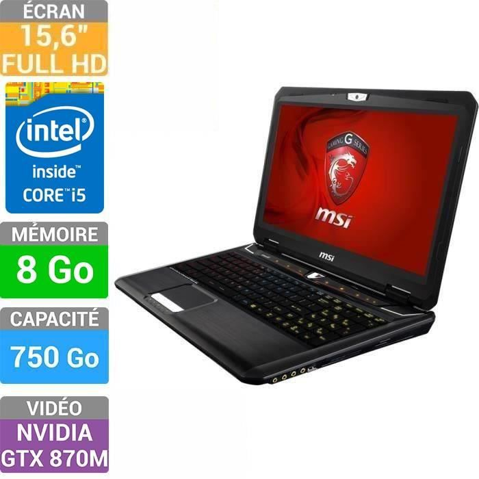 msi pc portable gamer gt60 2pc dominator 691xfr prix. Black Bedroom Furniture Sets. Home Design Ideas