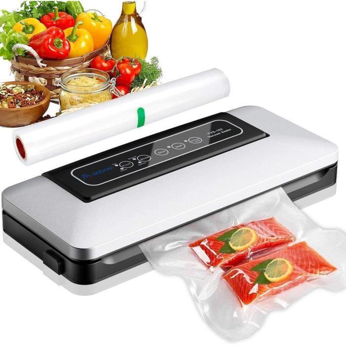Machine Sous Vide Automatique,Aobosi Appareil de mise sous vide Machine de Scellage pour Aliments,Viandes,Légumes, Fruits