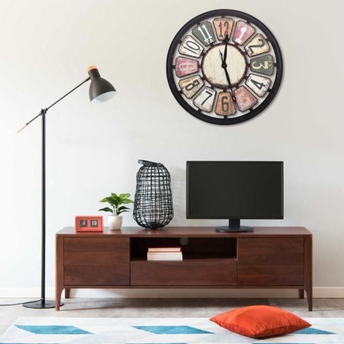 Horloge murale Multicolore 80 cm MDF -XNA