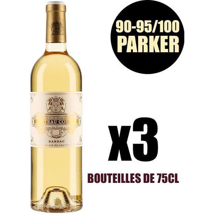 X3 Château Coutet 2015 75 cl AOC Sauternes 1er Cru Classé Vin Blanc Vin Liquoreux