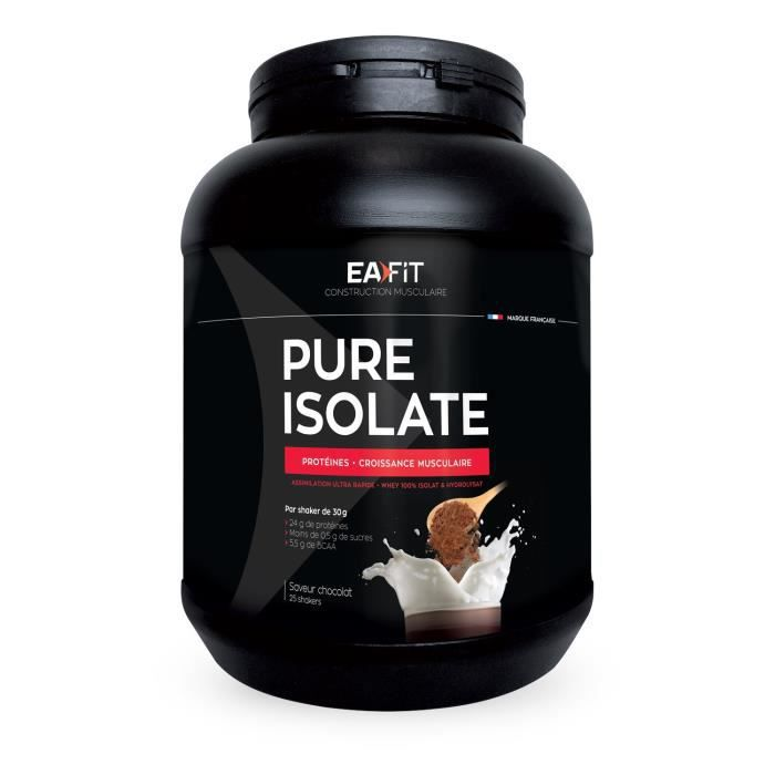 EAFIT Pure isolate chocolat 750 g