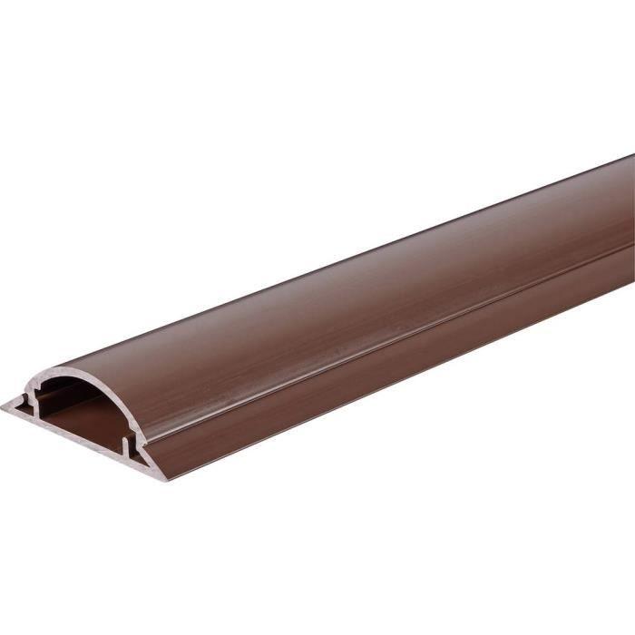 Protège-câbles TRU COMPONENTS 1572568 PVC marron Nombre de canaux: 1 1000 mm 1 m - MOULURE - GOULOTTE - CACHE FIL - PLINTHE - GAINE