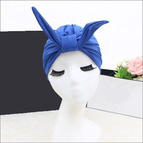 Natation piscine lapin bonnet de bain chapeau taille libre pour les femmes Fashional bonnet de bain ch - Modèle: Bleu - TEYYMA11541