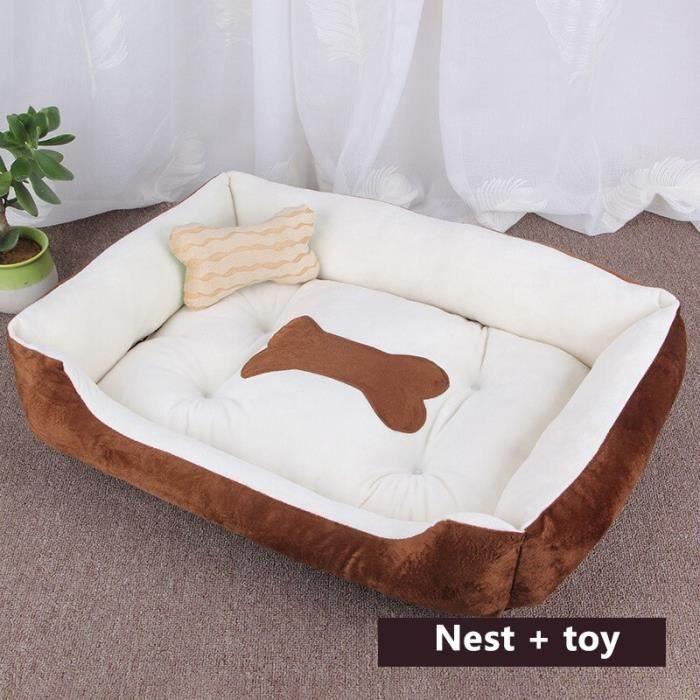 Oreiller pour animaux de compagnie, lit pour chien, tapis, canapé, maison pour chat, chiot, grande, Brown white 1 XXS -REAL23441