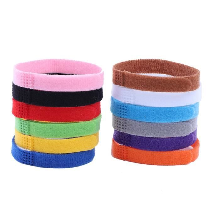 Pendentif d'identification,Colliers pour Identification 12 couleurs Bandes pour chiot, chaton, animal domestique - Type 12 pc-S
