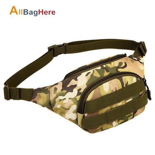 Sac à dos,Sac de taille Portable tactique hommes femmes Camping en plein air randonnée Sport cyclisme en cours - Type CP Camouflage