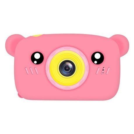 Appareil photo enfant,Bébé jouets 0 12 mois dessin animé appareil photo numérique enfants créatif jouet éducatif - Type Pink bear