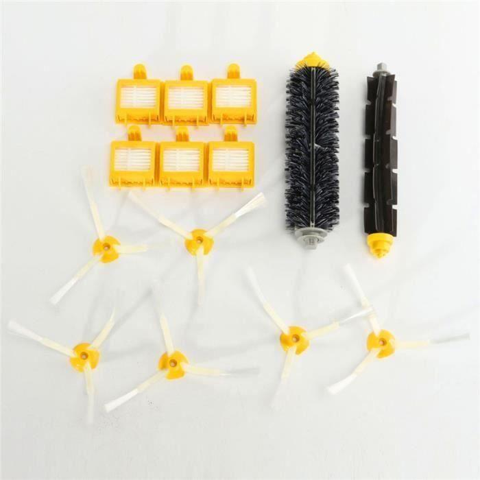 14Pcs Kit Brosse Latéral Filtre Nettoyage Pr iRobot Roomba 700 760 770 780 Serie L053 @ VI