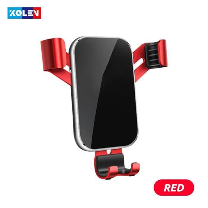Supports voiture,Pour Audi A1 2011 2019 Support de téléphone portable pour voiture Support de charge automatique Support - Type Red