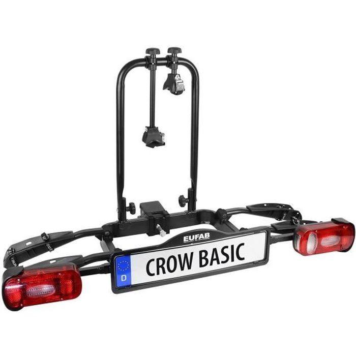 EUFAB Porte-Vélos Crow Basic - 2 vélos (compatible vélos électrique)