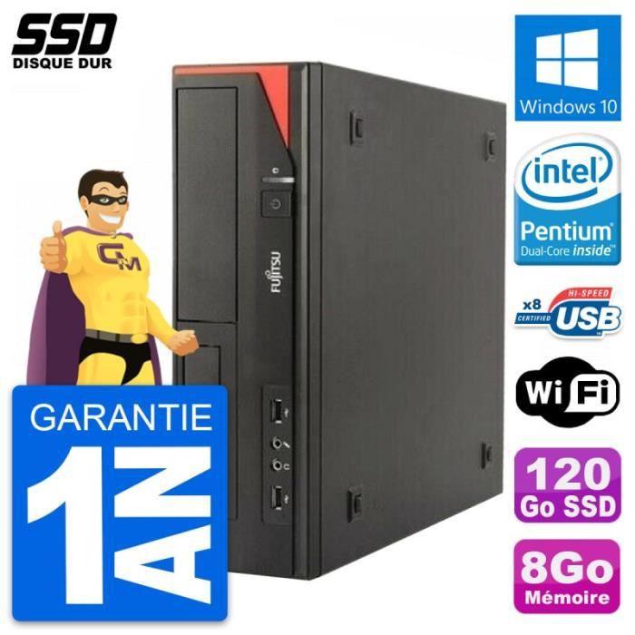 PC Fujitsu Esprimo E520 E85+ DT Intel G3220 RAM 8Go SSD 120Go Windows 10 Wifi