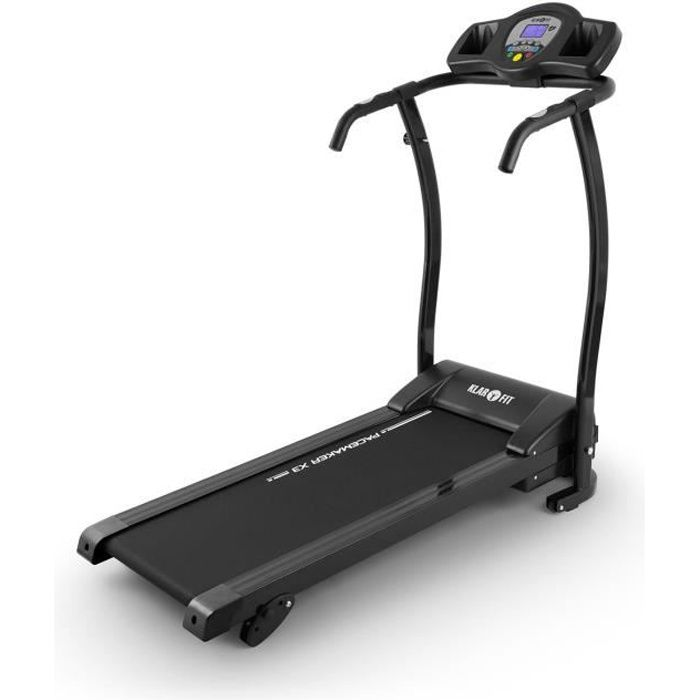 Klarfit Pacemaker X3 Tapis de course avec pulsomètre pour cardio-training : 3 degrés d'inclinaison , 12 programmes , jusqu'à 12km/h.
