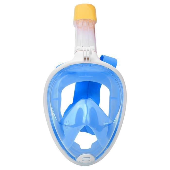 ☀ Silicone liquide tout visage sec en silicone pour adultes masque de plongée lunettes de plongée(bleu L - XL)-☀GOL☀