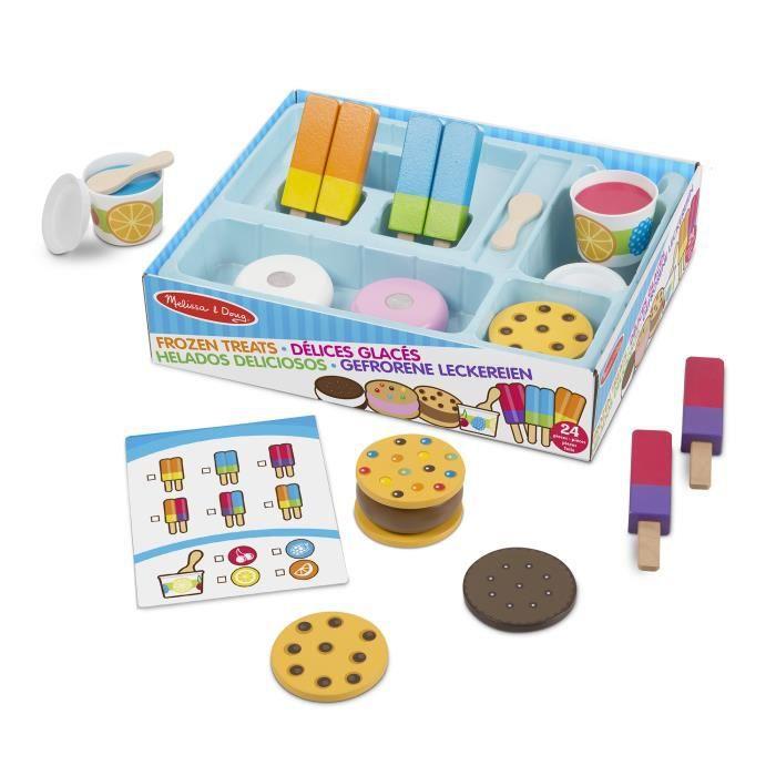 Melissa & Doug ensemble de jeu de crème glacée en bois 24 pièces