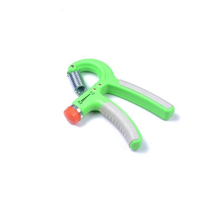 Paire Poignée d'exercices de musculation Gripper ou Hand grip pour le renforcement de la main et de l'avant-bras Vert