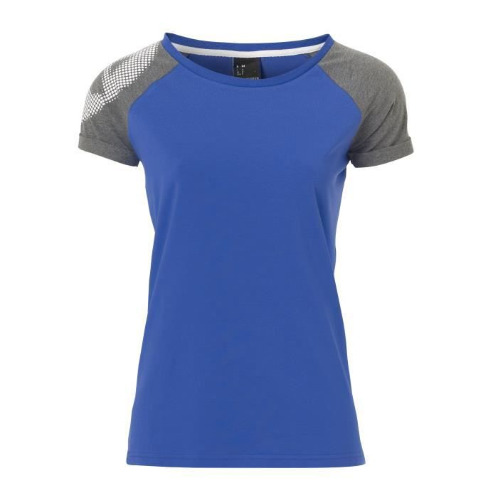KEMPA T-Shirt Handball Fly High Femme Bleu roi et gris chiné