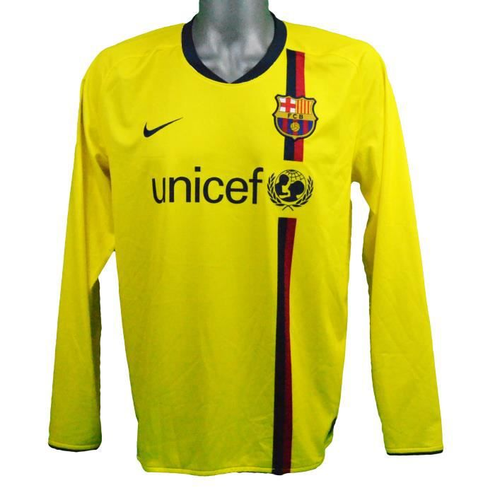 Maillot extérieur manches longues FC Barcelone 2008/2009 Iniesta