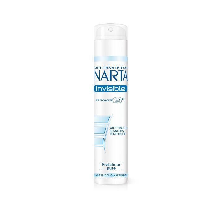 Déodorant femme invisible spray 200 ml Narta