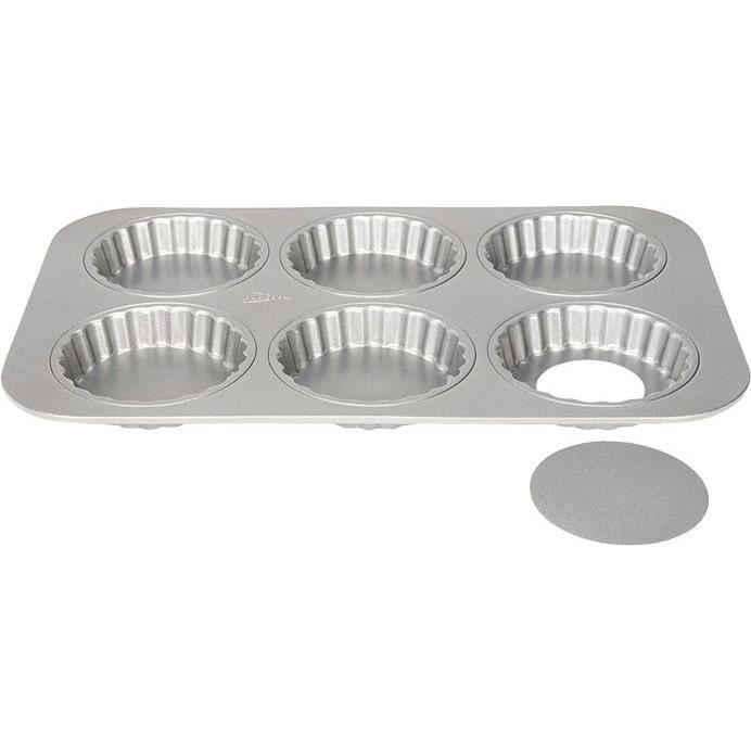 Moule Silver top 6 tartelettes 10cm amovible