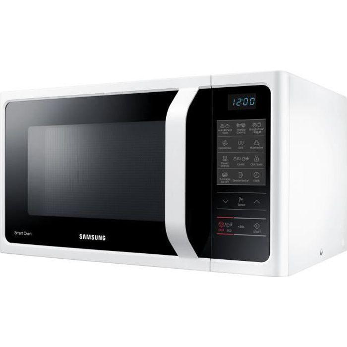 Samsung MC28H5013AW Four micro-ondes combiné grill pose libre 28 litres 900 Watt blanc
