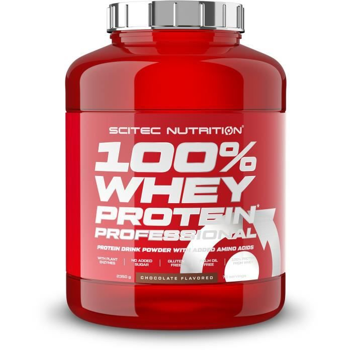 100% Whey Protein Professional 2350 gr CHOCOLAT Scitec Nutrition Proteines en Poudre Musculation