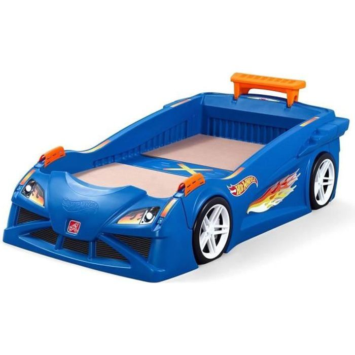 STEP 2 Lit Simple HOT WHEELS Voiture pour enfant 70x140 cm