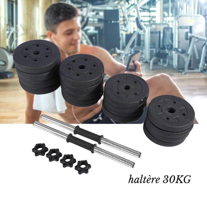 HAO Disques de Poids 1.25kg 1.5kg 2kg 2.5kg avec Barre 47 cm d'haltères de faire de l'exercice à la maison-21