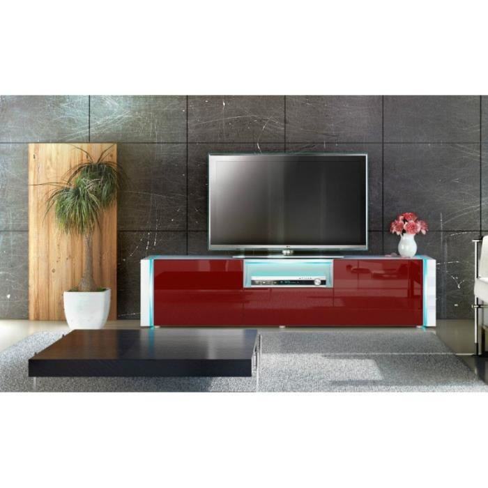 meuble tv design blanc bordeaux achat vente meuble tv meuble tv design blanc cdiscount. Black Bedroom Furniture Sets. Home Design Ideas