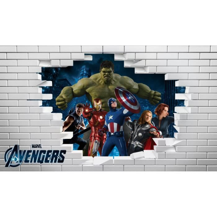 Auto Collant Mural Of Autocollant Mural 21 X 29 7 Cm Mur Avengers Marvel Achat