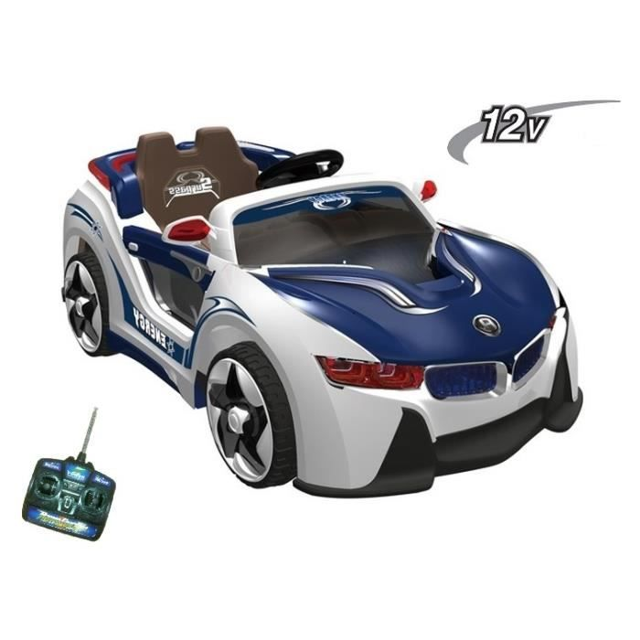 voiture lectrique bmw i8 bleu pour enfant 12v achat. Black Bedroom Furniture Sets. Home Design Ideas